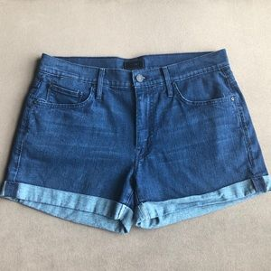 Mother dropout cuff short in bright eyes (28)